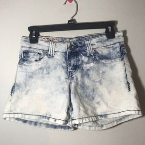 1st Kiss White and Blue Tie Dye Shorts